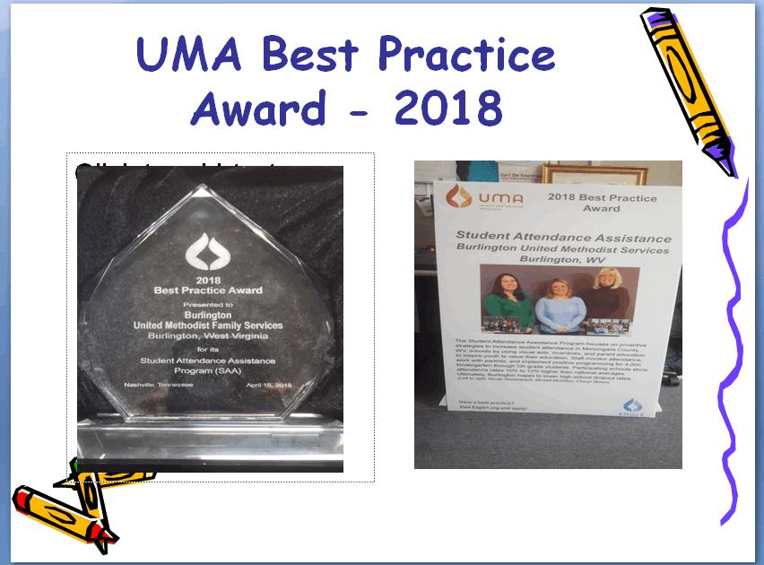 2018 UMA NATIONAL BEST PRACTICE AWARD WINNER